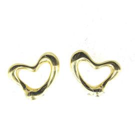 Tiffany & Co. Elsa Peretti 18K Yellow Gold Open Heart Clip-On Earrings