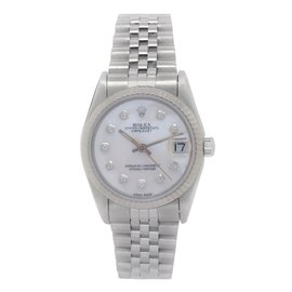 Rolex Datejust 68274 Mother Of Pearl Diamond Dial Automatic 30mm Womens Watch