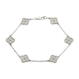 Van Cleef & Arpels 18K White Gold and 0.48ct Diamonds Bracelet