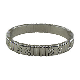 Bulgari 18K White Gold Parentesi Bracelet