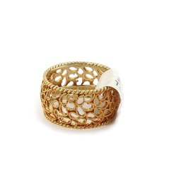 Buccellati Filidoro 18K Yellow Gold Dome Band Ring Size 6