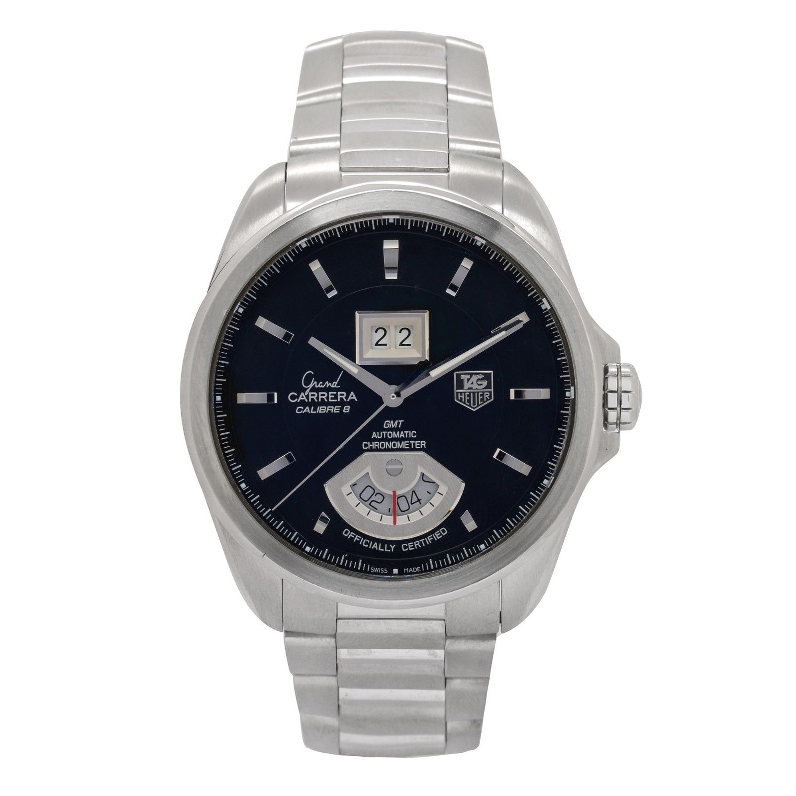 "Image of ""Tag Heuer Grand Carrera Wav5111 Stainless Steel Black Dial Automatic"""