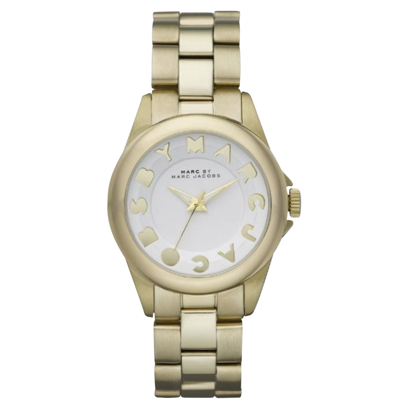 "Image of ""Marc by Marc Jacobs Mbm3111 Bubbles Gold Tone Stainless Steel White"""