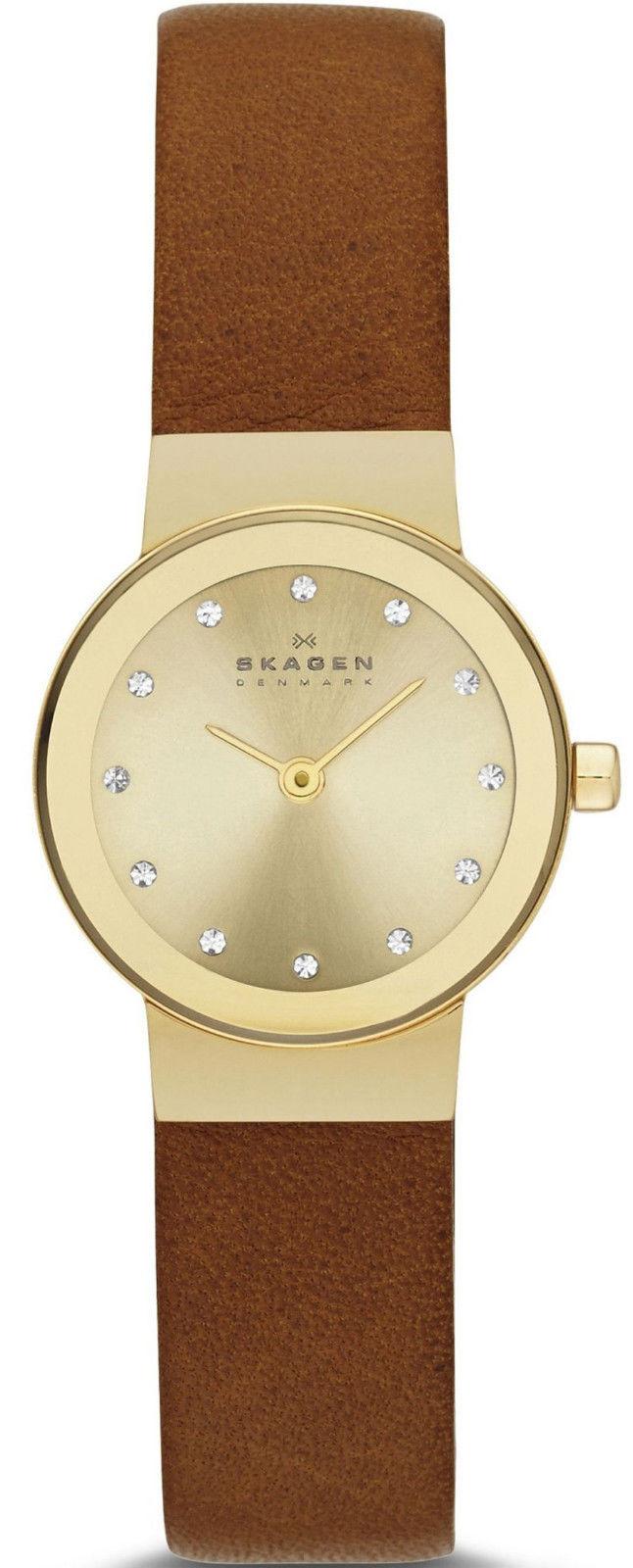 "Image of ""Skagen Skw2175 Gold Tone Stainless Steel Quartz 22mm Womens Watch"""