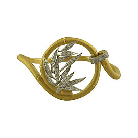 Carrera Y Carrera 18K Yellow & White Gold Diamond Bambu Bangle Bracelet