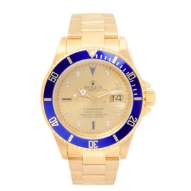 Rolex Submariner 16618 18K Yellow Gold Gold Dial Automatic 40mm Mens Watch