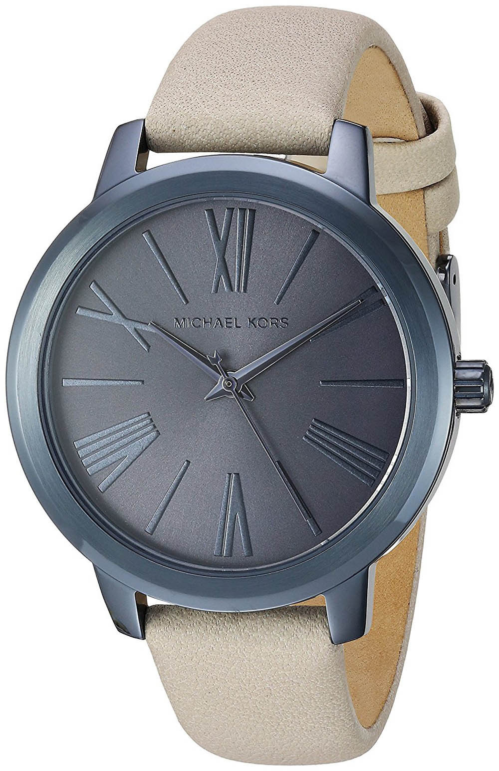 "Image of ""Michael Kors Mk2628 Hartman Navy Blue Dial Leather Strap 38mm Womens"""