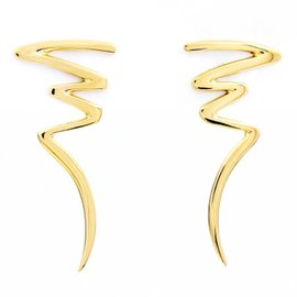 Tiffany & Co. Paloma Picasso 18K Yellow Gold Scribbles Earrings