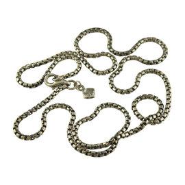 David Yurman 925 Sterling Silver Small Box Chain Necklace