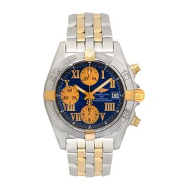 Breitling Cockpit B13358 18K Yellow Gold & Stainless Steel Automatic 43mm Mens Watch