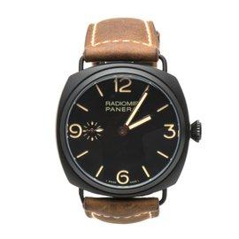 Panerai Radiomir Composite PAM00504 Black Ceramic Mechanical Leather 47mm Mens Watch