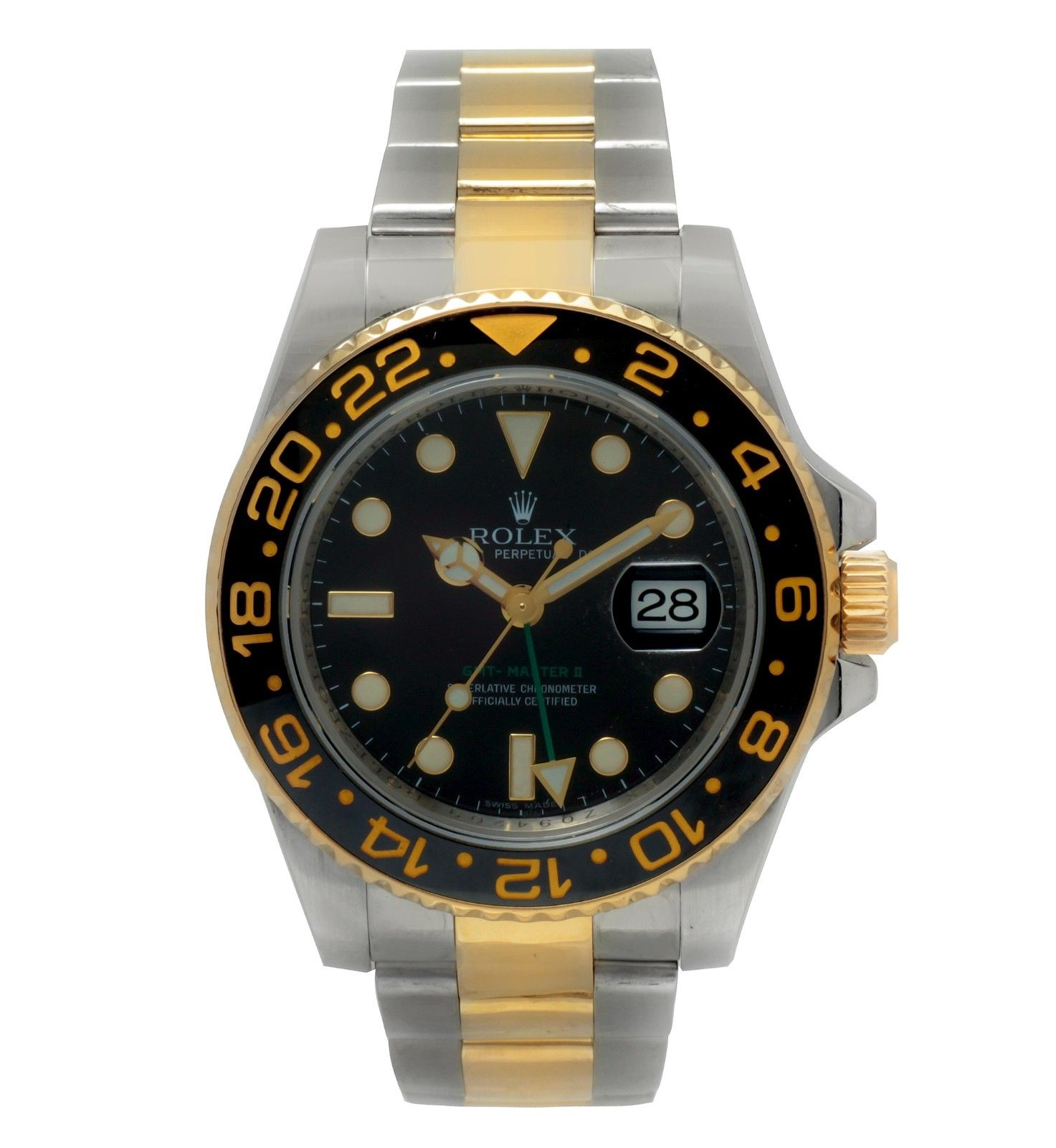 """Image of """"Rolex GMT Master II 116713 18K Yellow Gold / Stainless Steel with"""""""