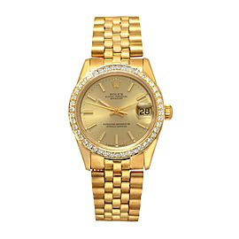 Rolex Datejust 68278 18K Yellow Gold with Yellow Dial 30mm Unisex Watch