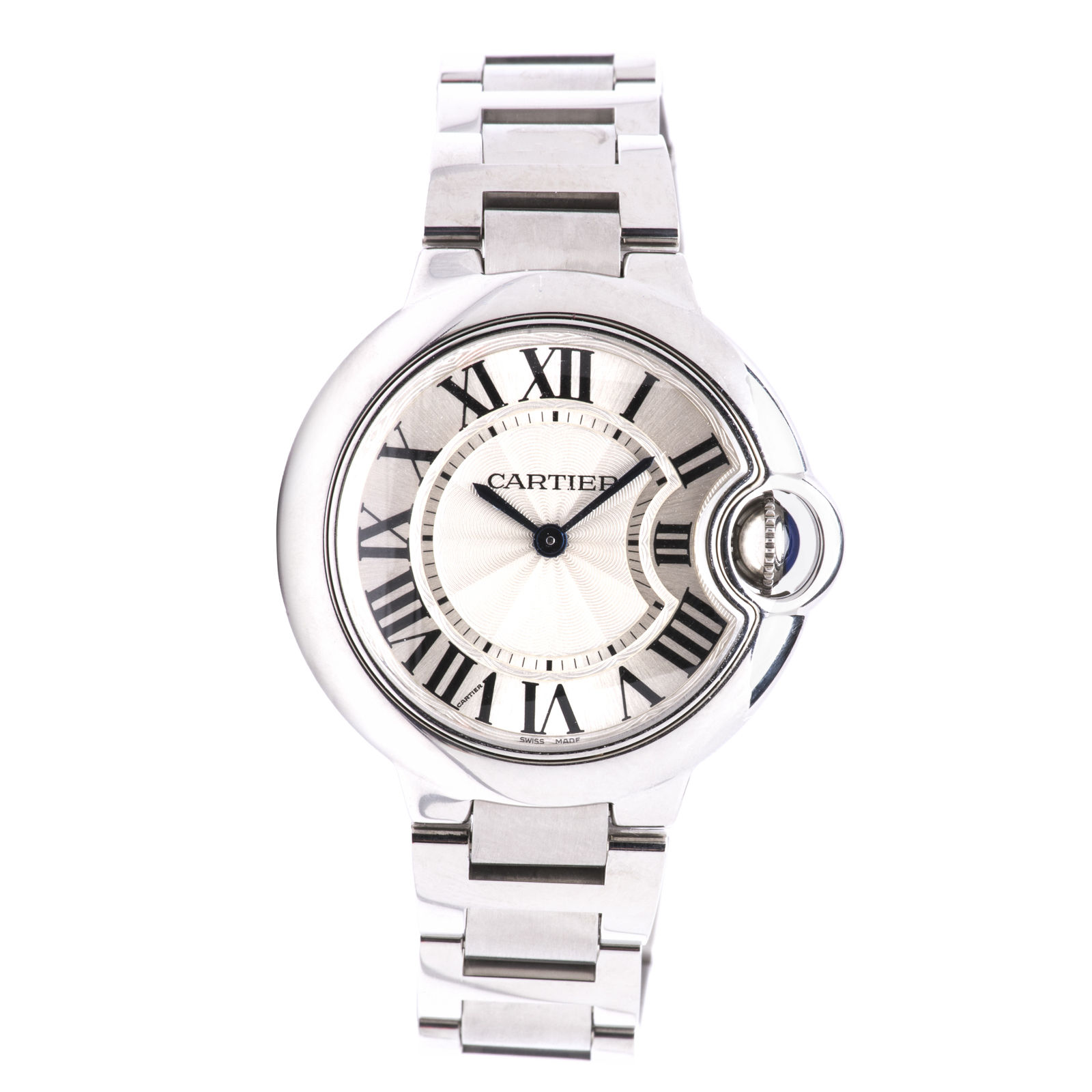 Cartier Ballon Bleu W6920084 Stainless Steel with Silver Dial 33mm
