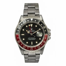 Rolex GMT-Master II 16760 Stainless Steel Automatic 40mm Mens Watch