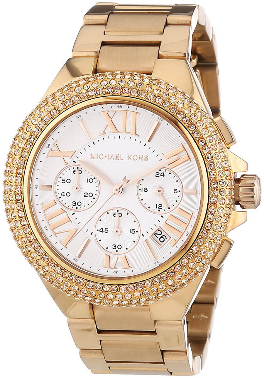 """Image of """"Michael Kors Camille Mk5636 Rose Gold Stainless Steel with White Dial"""""""