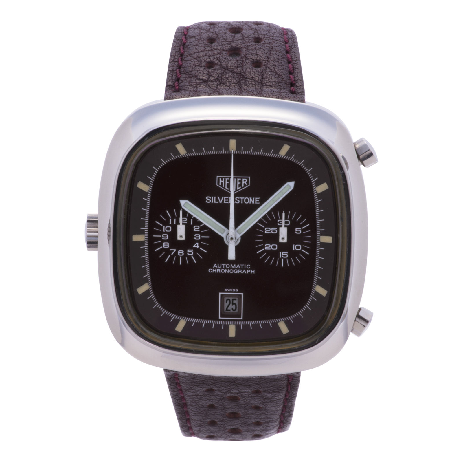 "Image of ""Tag Heuer Silverstone 110.313 Stainless Steel / Leather 40mm Mens"""