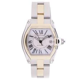 Cartier Roadster 2510 18K Yellow Gold / Stainless Steel 43mm Mens Watch
