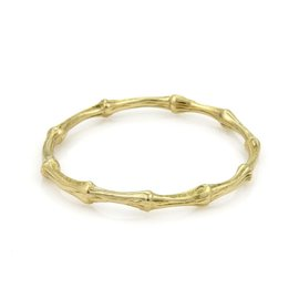 Tiffany & Co. Bamboo Collection 18K Yellow Gold Bangle Bracelet