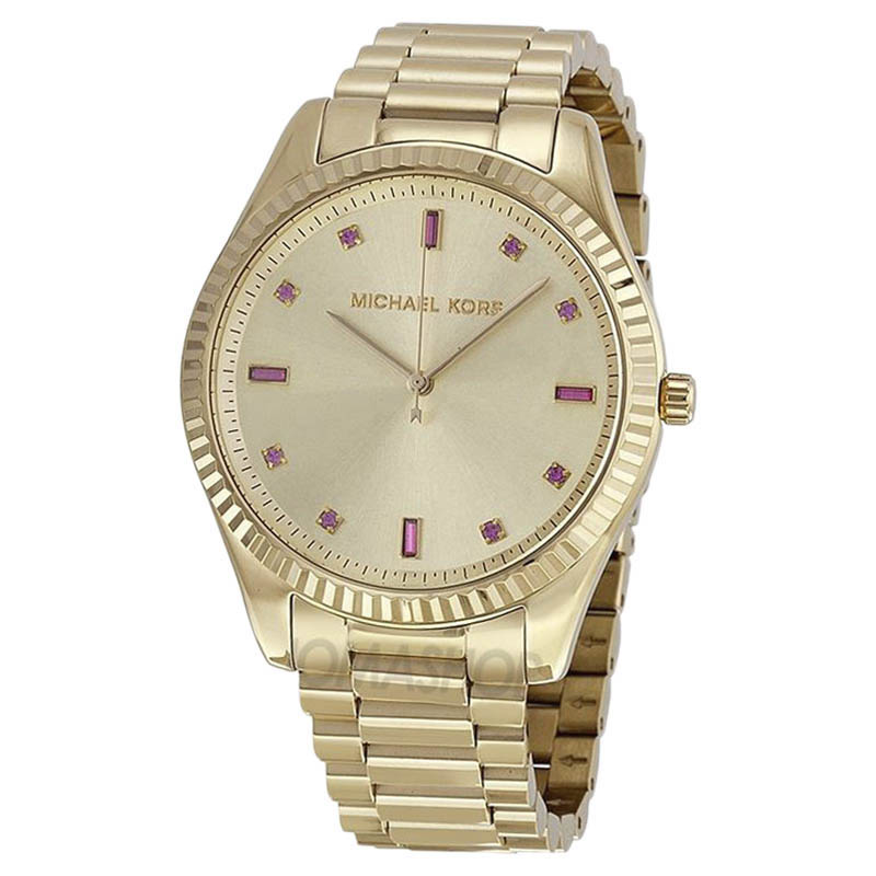 """Image of """"Michael Kors Mk3246 Gold-Tone Stainless Steel 42mm Womens Watch"""""""