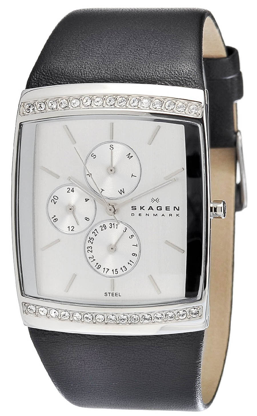 """Image of """"Skagen 656Lslb Stainless Steel Silver Dial 34mm Womens Watch"""""""