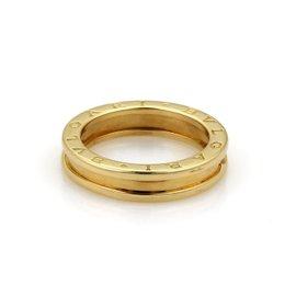 Bulgari B Zero.1 18K Yellow Gold Band Ring Size 8.5