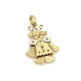 Pomellato 18K Yellow & White Gold Animated Queen Charm Pendant