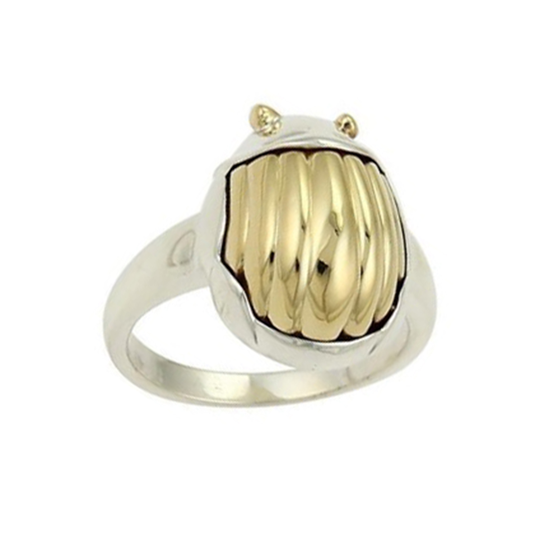 """Image of """"Tiffany & Co. 18K Yellow Gold & Sterling Silver Scarab Beetle Ring"""""""