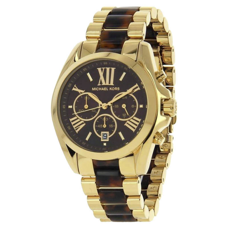 """Image of """"Michael Kors Mk5696 Gold Tone Stainless Steel 43mm Womens Watch"""""""