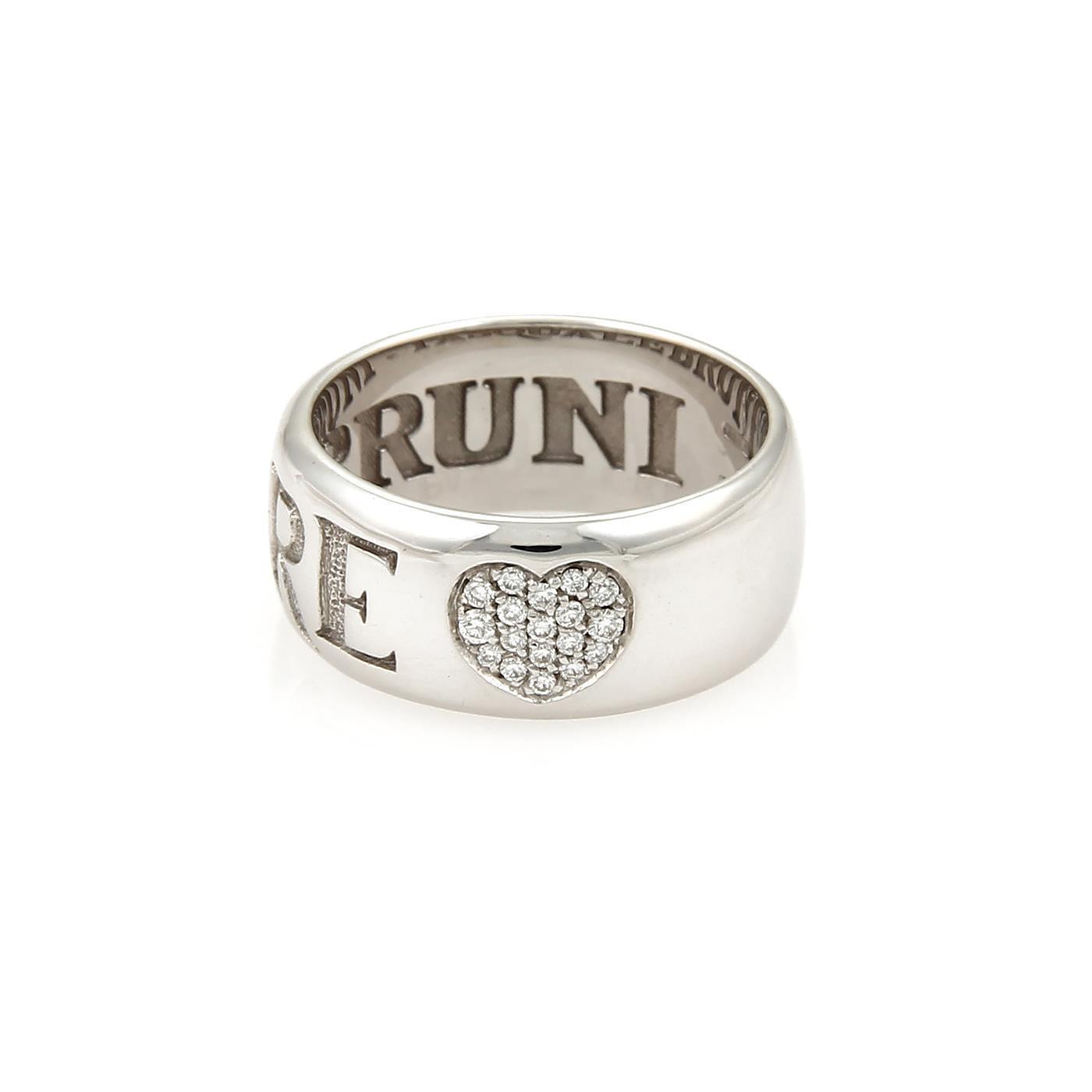 """""Pasquale Bruni Amore 18K White Gold & Diamonds Band Ring Size 7"""""" 1842355"