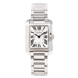 Cartier Tank Anglaise 5310022 Stainless Steel Silver Dial 20mm Womens Watch