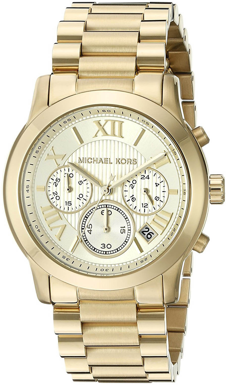 """Image of """"Michael Kors Mk6274 Gold Tone Stainless Steel 39mm Womens Watch"""""""
