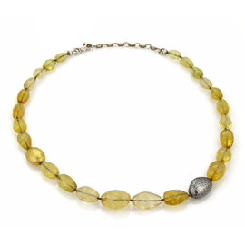 Gurhan Yellow Beryl 925 Sterling Silver & 24K Layered Yellow Gold Necklace