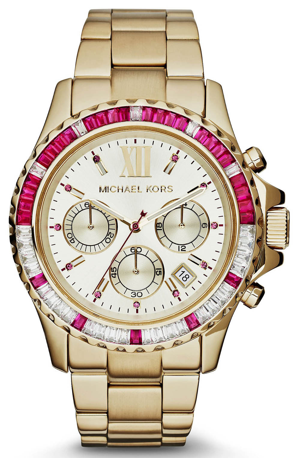 "Image of ""Michael Kors Mk5871 Gold Tone Stainless Steel 45mm Womens Watch"""