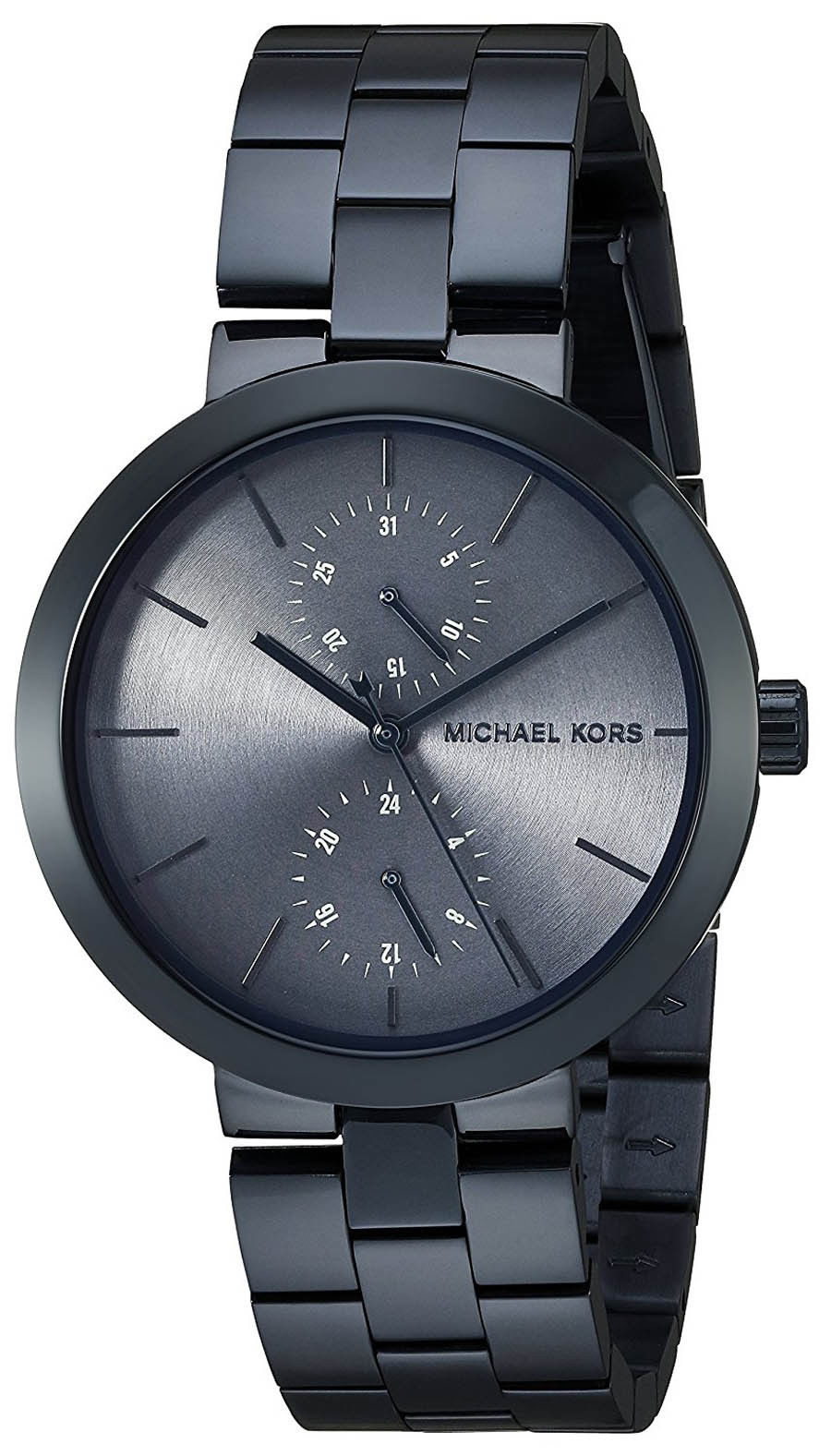 "Image of ""Michael Kors Mk6410 Navy Ion Plated Stainless Steel 39mm Womens Watch"""