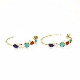 Ippolita 18K Yellow Gold Rock Candy Hoop Earrings