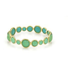 Ippolita Lollipop 18K Yellow Gold Green Citrine Turquoise Bracelet