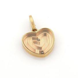 Cartier 18K Rose Gold Labyrinth Heart Charm