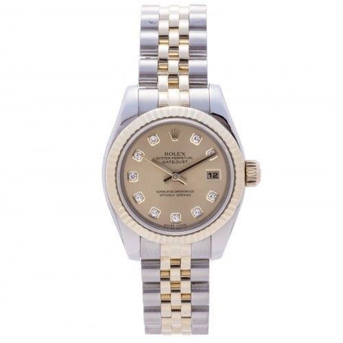 "Image of ""Rolex Datejust 179173 Two Tone Stainless Steel 26 mm Womens Watch"""