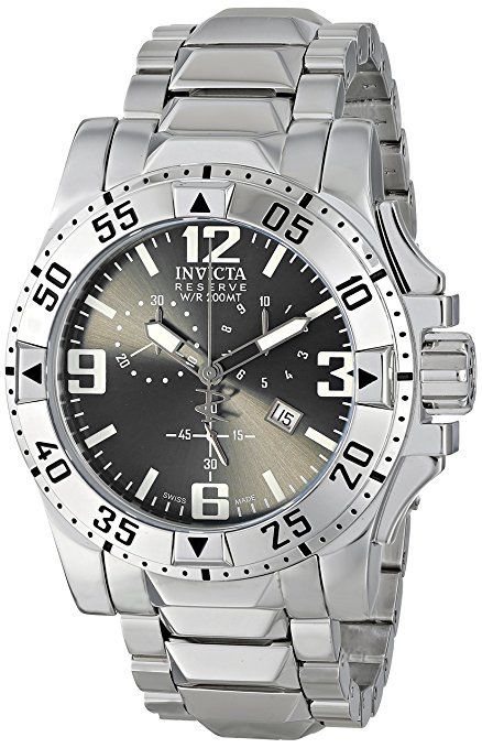 """Image of """"Invicta Reserve Collection 5675 Grey Dial Stainless Steel Chronograph"""""""