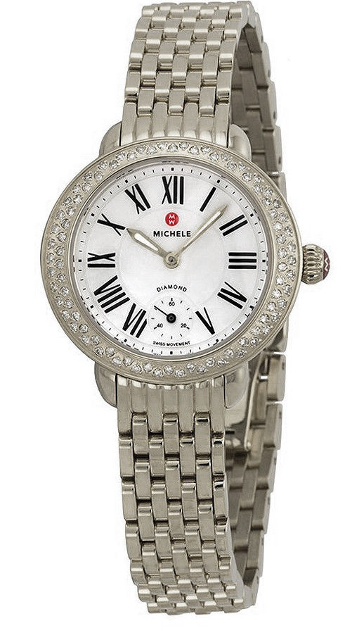 "Image of ""Michele Mww21E00001 Stainless Steel Quartz 26mm Womens Watch"""