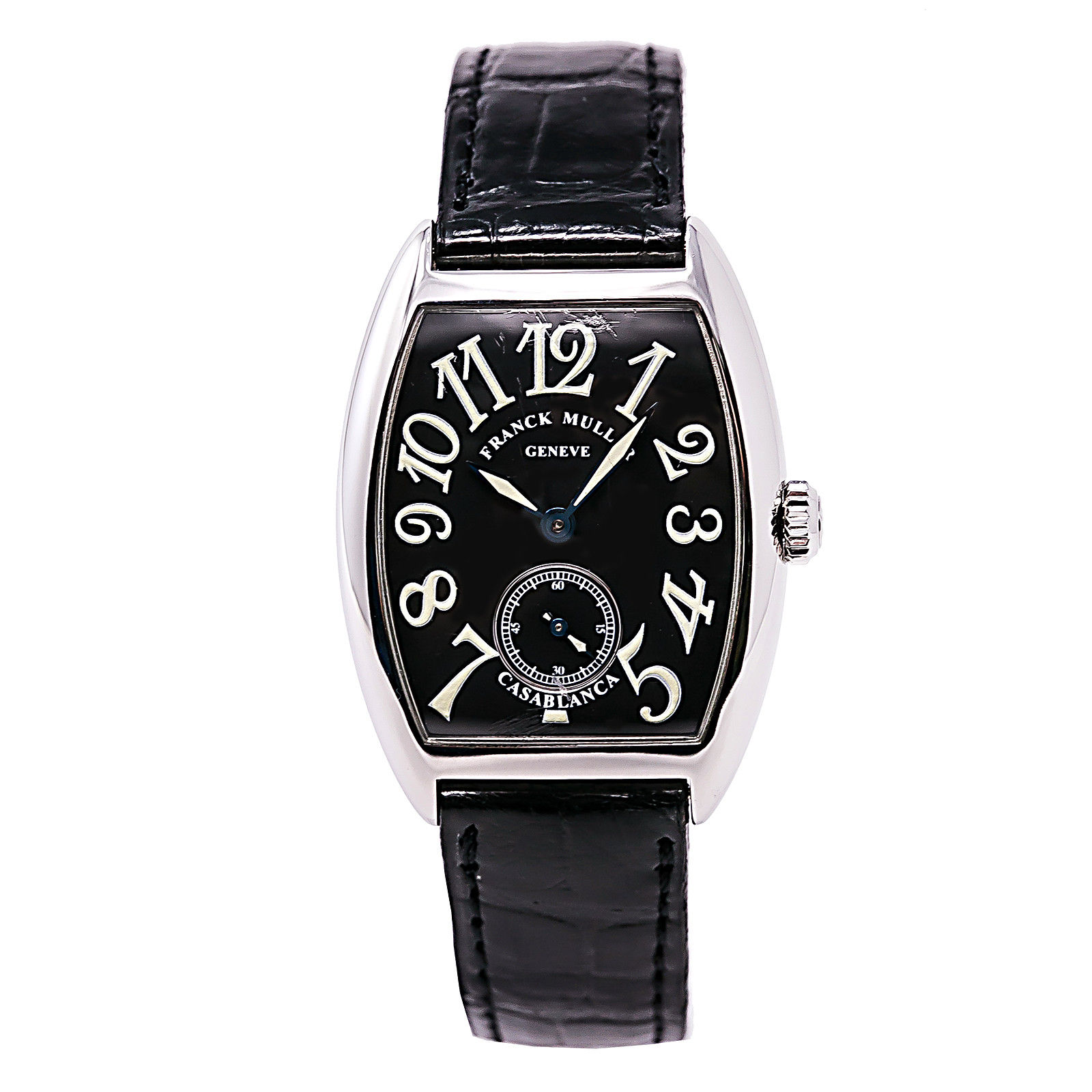 "Image of ""Franck Muller Casablanca 7502 S6 Stainless Steel & Leather Black Dial"""
