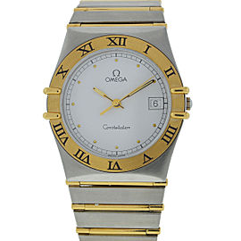 Omega Constellation Stainless Steel/Yellow Gold Quartz 34mm Unisex Watch