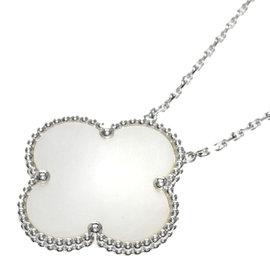 Van Cleef & Arpels 18K White Gold Magic Alhambra Necklace