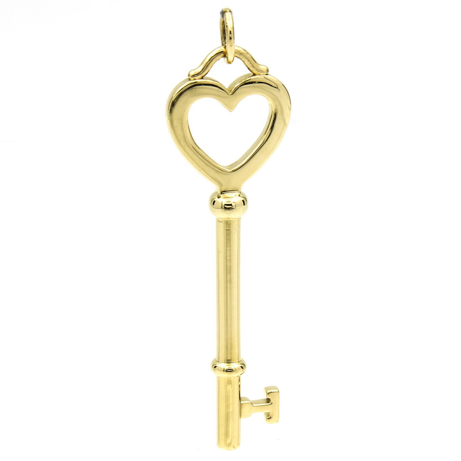 "Image of ""Tiffany & Co. 18K Yellow Gold Large Heart Key Pendant"""