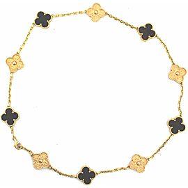 Van Cleef & Arpels Bois d'Amourette 18K Rose Gold Alhambra Necklace