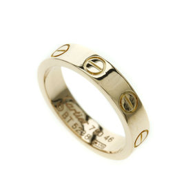 Cartier Mini Love 18K Rose Gold Ring Size 3.5