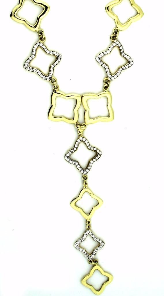 "Image of ""David Yurman Quatrefoil 18K Yellow Gold & Diamond Necklace"""