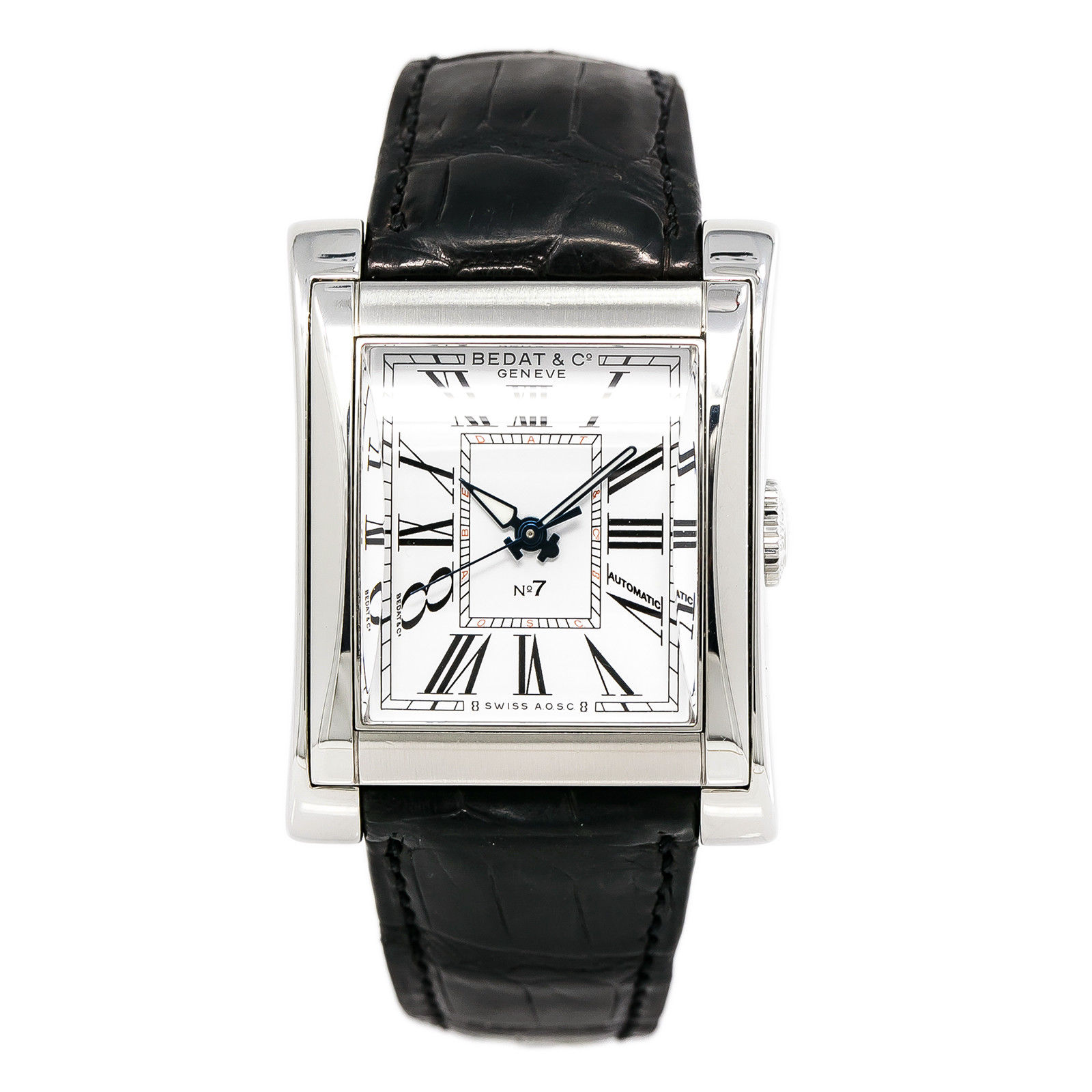 """Image of """"Bedat & Co. No.7 767.010.100 Stainless Steel & Leather White Dial"""""""