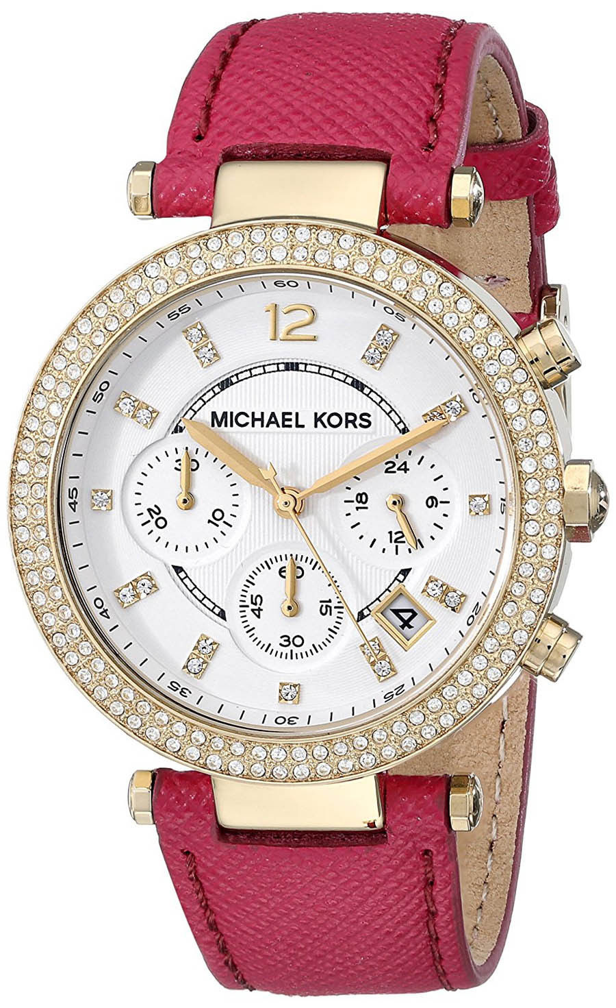 """Image of """"Michael Kors Mk2297 Gold Tone Stainless Steel / Leather Quartz 39mm"""""""